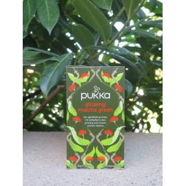 Thé vert Matcha Ginseng, Bio - Pukka