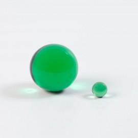 Bille de verre verte, énergisante
