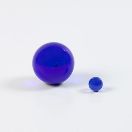 Bille de verre bleue, apaisante
